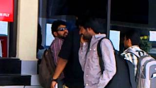 actor vimal in trichy airport