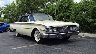 RARE 1960 Edsel Ranger Convertible in Yellow Paint & Start Up & Ride My Car Story with Lou Costabile