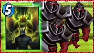 Castle Crush Black Knight with Giant Growth!