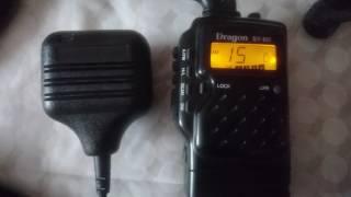 Легендарная родная (MADE IN KOREA) портативная радиостанция DRAGON SY-101 в канале дальнобойщиков.