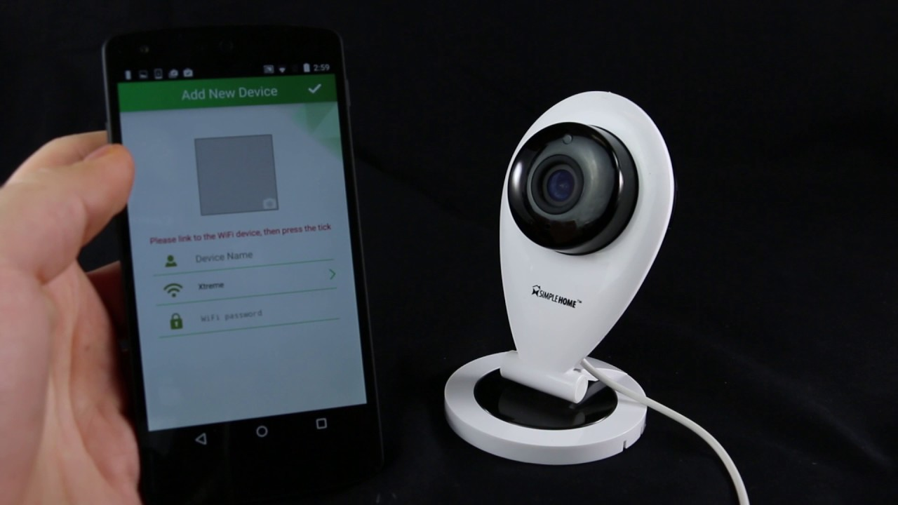 Instalación de Cámara fija Simple Home para el Android