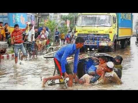 Chittagong Water logging || Flood with Rain Water in Ctg || Tidal water in Chittagong