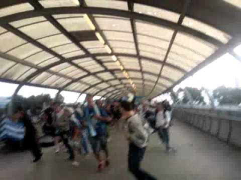 Greek fans in Melbourne after Marcos Baghdatis won round 1 Australian Open (Video #1)