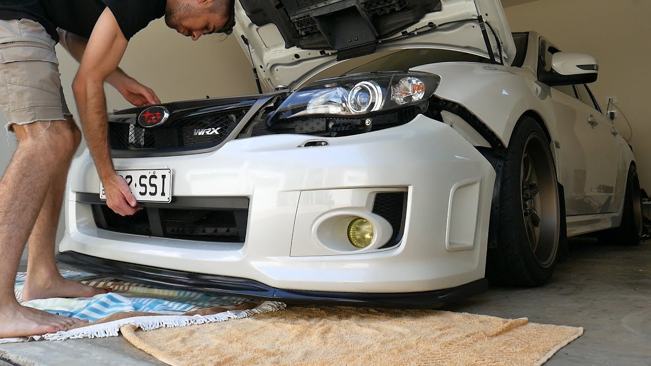 08 14 Subaru Wrx Sti Front Bumper Removal Fog Light Covers Install Vlog Youtube