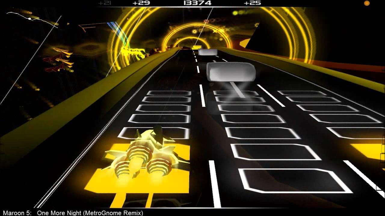 Audiosurf: maroon 5 one more night (metrognome remix) youtube.