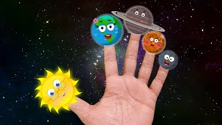 Planets finger family | the planet song | solar system song | science songs for kids | kids music thumbnail