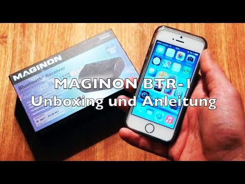 maginon btr 1 bluetooth receiver test review und unboxing. Black Bedroom Furniture Sets. Home Design Ideas