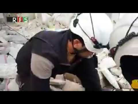 Brilliant! Unedited, fake White Helmets 'rescue' video