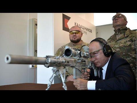 Watch Putin Shows Off Sniper Skills With New Kalashnikov Rifle Youtube
