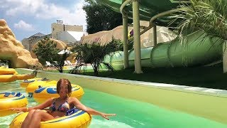 Dizzying recreation in the water park Hawaii