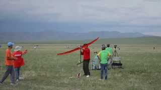 F1C fly-off launch, FAI 2015 F1 World Championships for Free Flight, Mongolia
