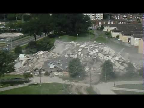 Orchard Park flats demolition 2012