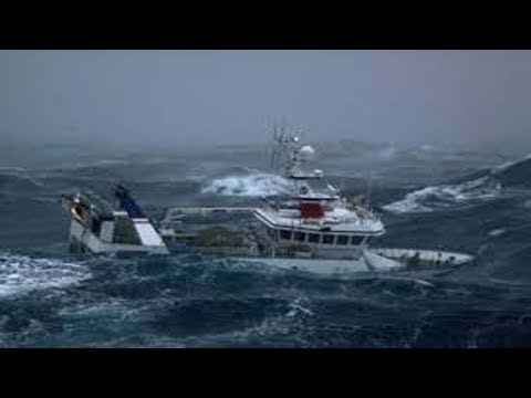 Small Fishing Boats In Rough Seas