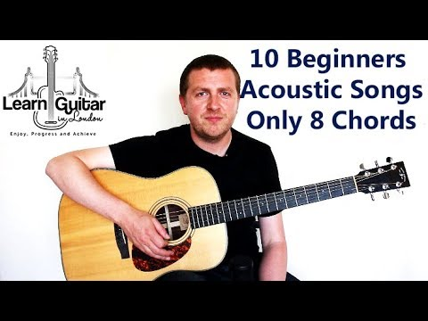 How To Play 10 Beginners Acoustic Guitar Songs  Part 1  Drue James