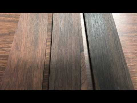 Choosing a Brazilian Rosewood fretboard. I chose number two