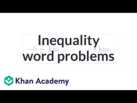 Inequality Word Problems | Applying Mathematical Reasoning | Pre-Algebra | Khan Academy