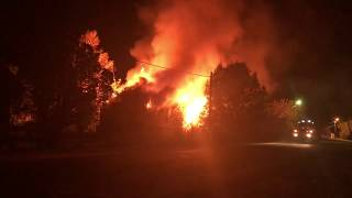 Пожар в бывшем здании суда, п. Новозавидовский, Тверская область, 6.10.18