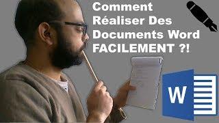Comment Réaliser Des Documents Word FACILEMENT ?!