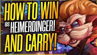 HOW TO WIN EVERY GAME WITH HEIMERDINGER IN SEASON 9!   BIG BRAIN BUILD? - League of Legends