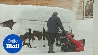 South Germany experiencing state of emergency for heavy snowfall