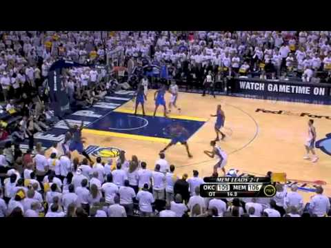 NBA Playoffs 2011: OKC Thunder Vs Memphis Grizzlies Game 4 Triple OT Highlights (2-2)