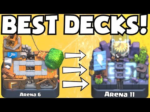 Clash Royale BEST ARENA 6 - ARENA 11 DECKS UNDEFEATED | BEST DECK ATTACK STRATEGY TIPS F2P PLAYERS