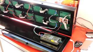 Обзор: электронное информационное светодиодное табло бегущая строка