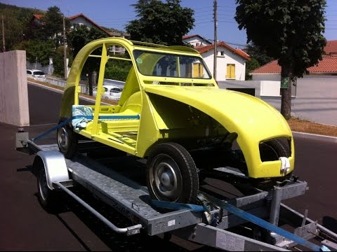 1977 Citroen 2cv4 Cedrat Yellow: if that's not an absolutely perfect restoration what is?