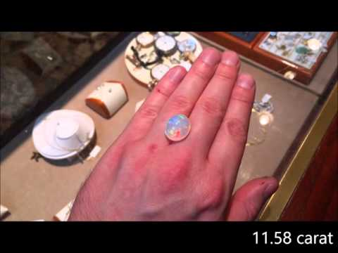 Ethiopian opal size, carat weight, and price.