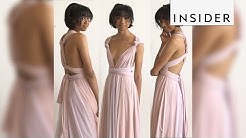 Transforming bridesmaid dress can be worn 15 different ways