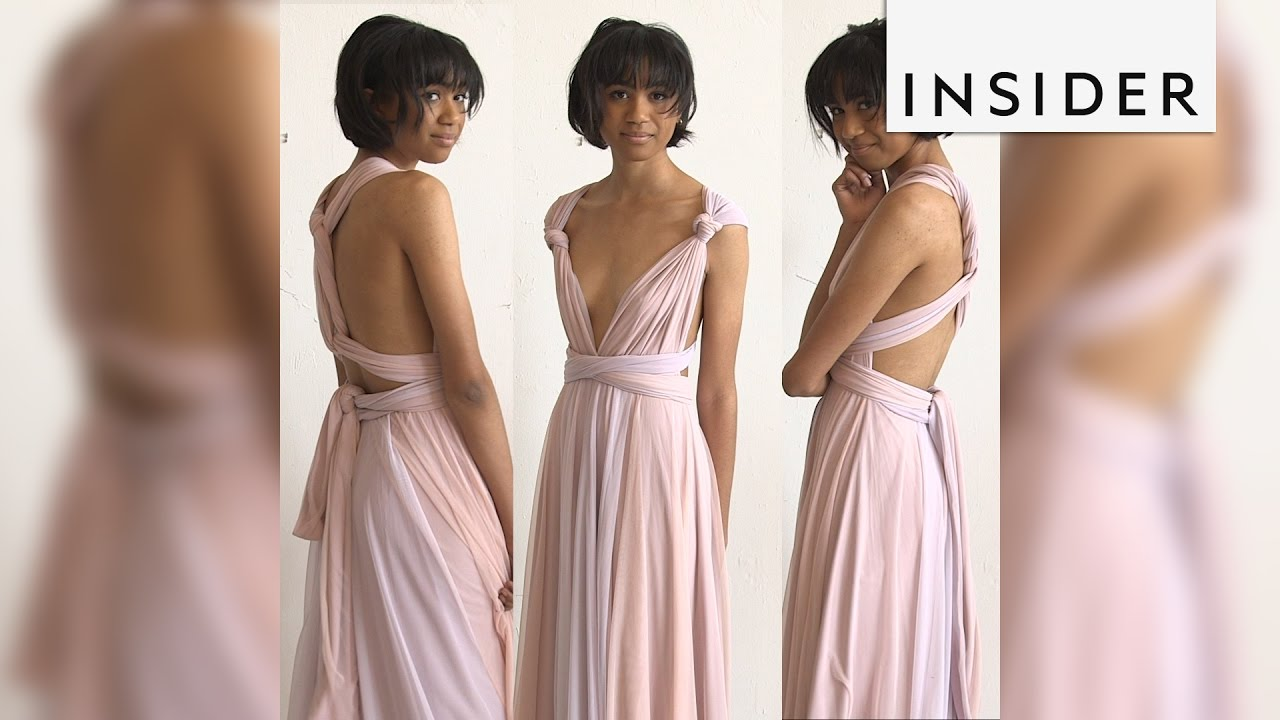 Transforming bridesmaid dress can be worn 15 different ways youtube transforming bridesmaid dress can be worn 15 different ways ombrellifo Choice Image