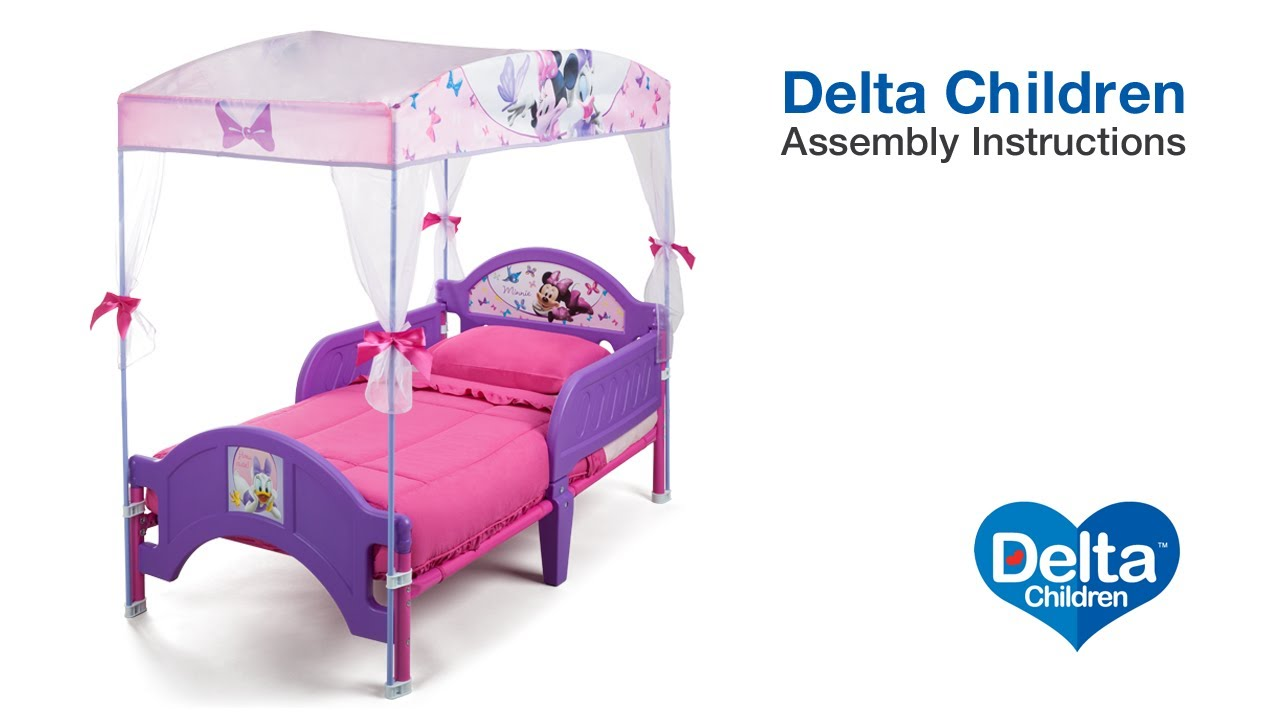 Delta Children Toddler Canopy Bed Assembly Video