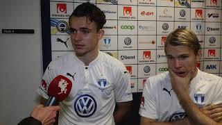 Malmö FFs Andreas Vindheim och Oscar Lewicki efter Malmö FF - AIK thumbnail