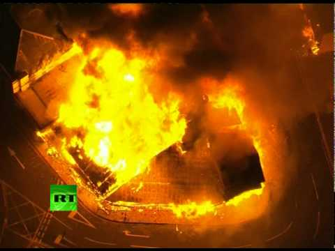 London riots turn mad: Video of massive fire in Croydon