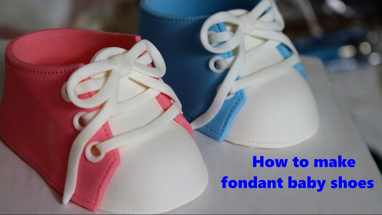 How to make fondant baby shoes - YouTube e9c117c898d4