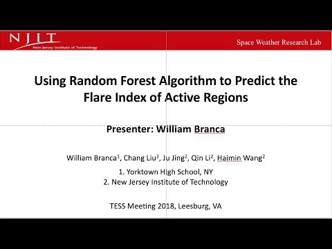 Predicting the Flare Index of Active Regions using the Random Forest Algorithm (TESS 2018)