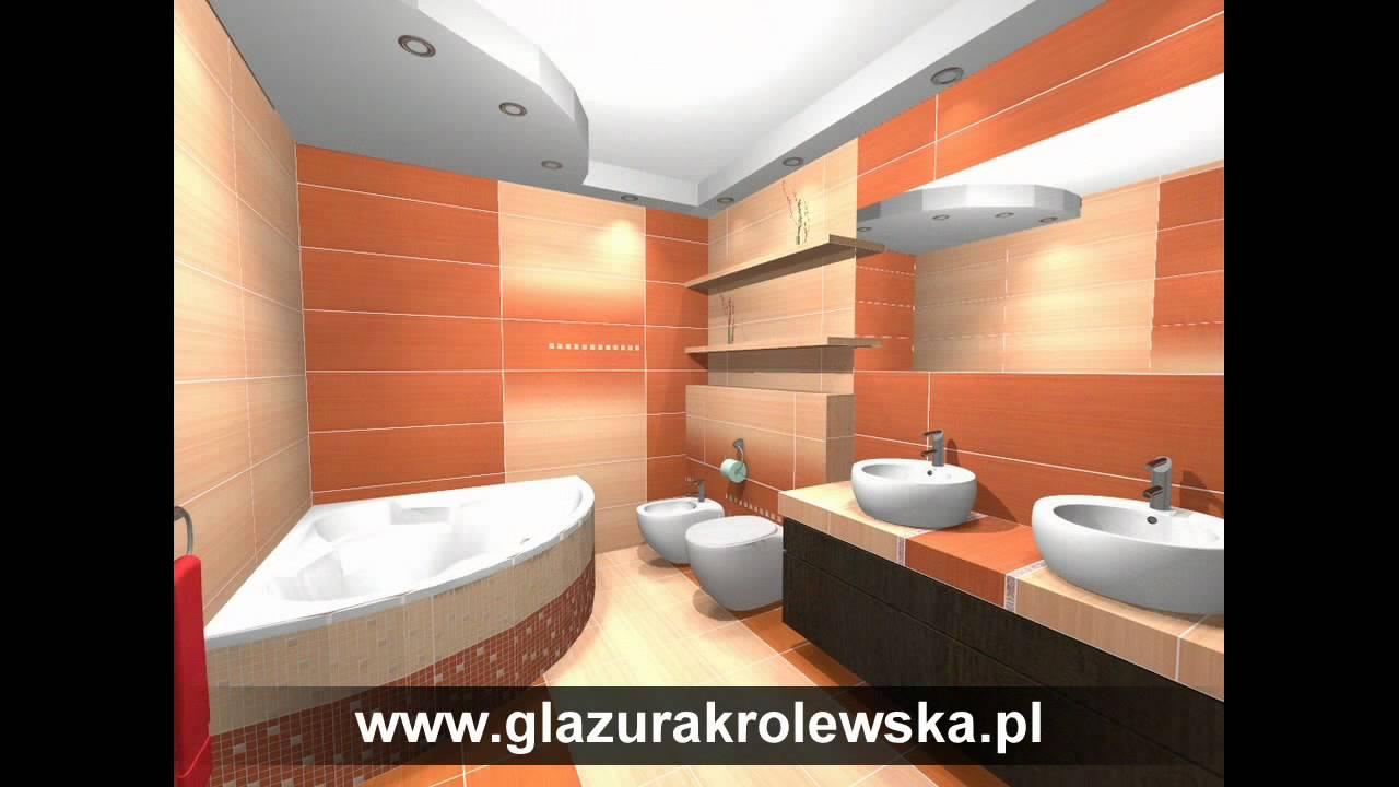 Aranżacje Komputerowe 3d Projekty łazienki Salony łazienek Glazura Królewska