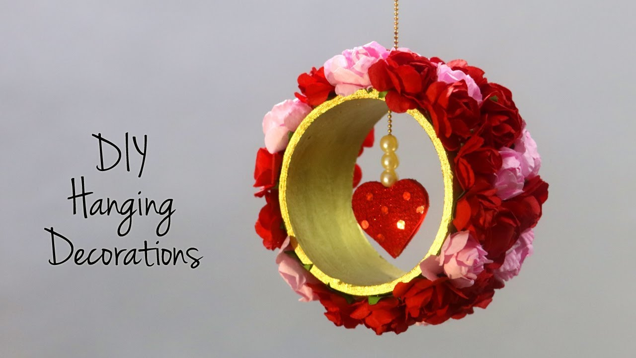 Diy Hanging Decorations Valentine S Day Gift Ideas Diy Room Decor Youtube