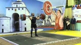 Weightlifting,15/02/ 2014 RUSSIAN CUP Vasiliy Polovnikov (105kg), clean/jerk 223kg