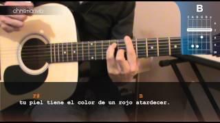 """Cómo tocar """"Es Por Ti"""" de Juanes en Guitarra Acústica (HD) Tutorial - Christianvib"""