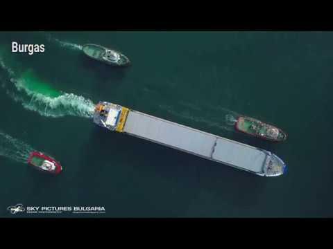 Заснемане с дрон Bulgaria aerial service Дрон България Drone Bulgaria ship drone inspections tanks