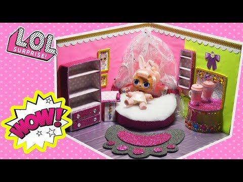 Комната для куклы ЛОЛ Сюрприз cвоими руками LOL Surprise #Hairgoals Snow Bunny