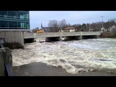 Flooding in Cambridge on the Grand River