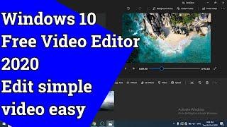 Windows 10 Free Video Editor (2020 New Version)   How To Use Windows 10 Video Editor Tutorial