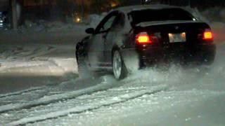 E46 M3 snow fun.