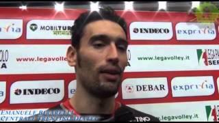 26-01-2014: Intervista ad Emanuele Birarelli nel post Exprivia Molfetta-Trentino Diatec
