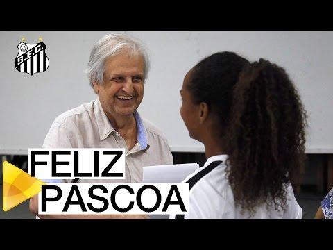 Colaboradores do Santos FC participam de celebração de Páscoa
