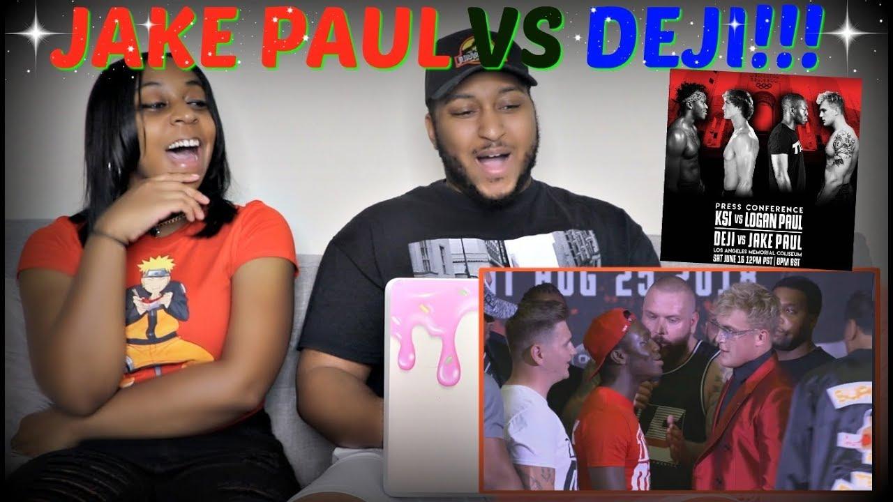 DEJI VS JAKE PAUL FULL PRESS CONFERENCE REACTION!!!