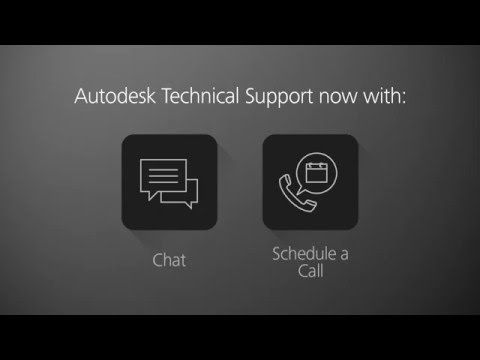 Autodesk Technical Support Benefits: Phone and Chat