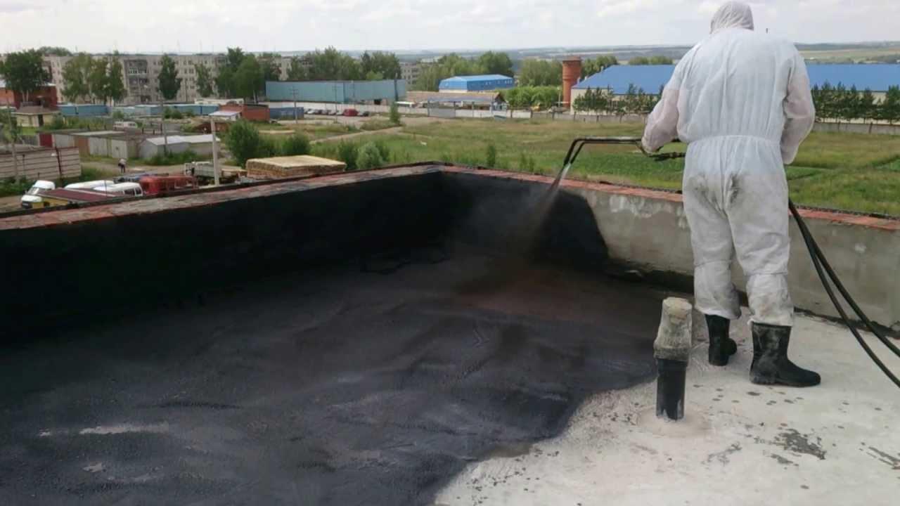 Покрытие крыши жидкой резиной